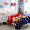 Polyester Plush Crochet Bedspread Flannel Fleece Blanket