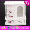 2016 Brand New Wooden Jewellery Box, Mirror Wooden Jewellery Box, Jewellery Box for Kids, Fashion Jewellery Wooden Box W09e016b