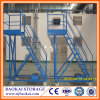 Folable Steel Warehouse Rolling Ladder Climb Cart