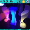 Hot Selling RGB Square LED Cocktail Table Rigeba Plastic Table LED Furniture