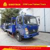 Cdw Sinotruk 4X2 Low Flatbed Truck Cargo Truck