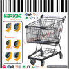 Black Powder Coating Grocery Store Shopping Cart