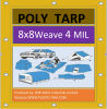 8X8weave 4mil Standard Duty Camping Ground Sheet Poly Tarp