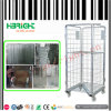 Wire Mesh Folding Laundry Roll Cage Container Trolley