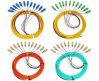 High Quality LSZH Jacket 12 Cores LC SC FC ST Bundle Fan-out Om3 Fiber Optic Pigtail