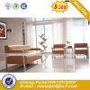 Modern Europe Design Steel Metal Leather Waiting Office Sofa (HX-S306)