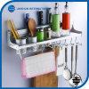 Aluminum Kitchen Wall Knife Spice Rack with Hook