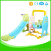 Indoor Mutifunction Playground Slide and Swing with Basketball Hoop Stand for Kid Q Series