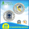 Customized Silver Zinc Alloy Challenge Souvenir Ring Coin with Enamel Logo