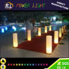 Plastic Furniture Indoor RGB LED Lighted Cylinder Pillar
