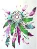 Colorful Dreamcatcher Purple Temporary Waterproof Tattoo Sticker
