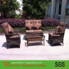 Dark Brown Wicker Sofa Chair Set/PE Round Rattan Chair Furniture