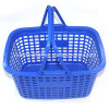 Lightweight Portable Plastic Supermaket Shopping Hand Basket with Double Handles