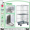 4 Sided Roll Mesh Container Warehouse Trolley