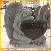 Aurora Granite Angel Heart Headstone