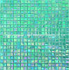 Bathroom Wall Tile Mixed by Green Glass Mosaic