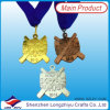 Custom 3D Gold Silver Bronze Medal Sports Day Medal Metal Gold Medal with Neck Ribbon