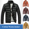 Hot Sale Winter PU Leather Parka Military Coat for Men