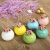 Round Colored Flower Ceramic Jewelry Box (CC-17)