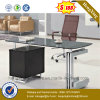 Black Desktop Stable Structure Executive Office Desk (NS-GD031)