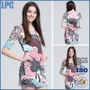 Pink Printing Tunic Knitted Fashion Dress