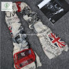 2017 Viscose Shawl British Flag Printed Fashion Lady Scarf Factory