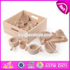 New Design Preschool Toddlers Natural Wooden Dinner Set Toys W10b178