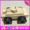 2016 Wholesale Baby Wooden Tank Toy, DIY Painted Kids Wooden Tank Toy, Funny Children Wooden Tank Toy W03A081