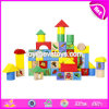 Wholesale Customize 60 Pieces Educational Fruit Pattern Wooden Baby Toy Building Sets W13b034