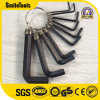 10PCS Hex Key Wrench Set with Convenient Ring Repairing Tool