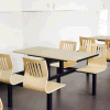 Good Quality 4 Person Conjoined Cheap Fast Food Restaurant Furniture