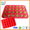 Factory Wholesale FDA LFGB Approved Silicone Mini Muffin Tray