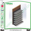 Wooden and Metal Storage Single Sided Display Rack