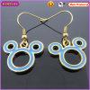 Boosin Micky Mouse Shaped Enamel Metal Earrings (21132)