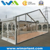 Gable Width 10m Transparent Marquee with Wooden Floor