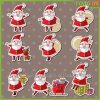 Reusable Adhesive Christmas Vinyl Graphic 3D Door Sticker
