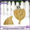 Wholesale Leaf Shape 32GB Wooden USB Flash Drive