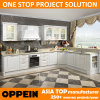 Oppein Modern E0 White PVC L-Shape Wholesale Wood Kitchen Cabinets (OP15-054)