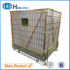Warehouse Storing Pet Caps Folding Wire Mesh Container