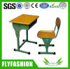 Wooden Middle Cheap Single School Desk and Chair Classroom Furniture (SF-41S)