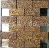Ripple Brick Stytle Copper Mosaic A6YNB028