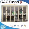 Balcony Aluminium Tempered Glass Bi Folding Doors