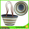 Straw Hat and Women Beach Tote Bag with PU Handle