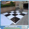 Portable Dance Floor Easy Assembled Black/White Wood Looking