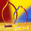 High Quality Bulk Sale Blank Crystal Flame Torch Award Trophy