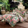 Printed Cotton Linen Bedsheet Duvet Cover Bedding Set