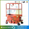 Lead Rail Hydraulic Scissor Lift Platform to Work in Orchard