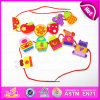 2015 Wooden Happy Threading Toys for Kids, Children DIY Hand Threading Toy, Threading Educational Kids Wooden Blocks Toy W11e041