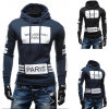 Long Sleeve Men′s Casual Athletic Fitness Print Hoodies (A504)