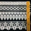 Apparel Sewing Fabric Ivory Cream Black Trim Cotton Crocheted Lace Fabric Ribbon Handmade Accessories Craft